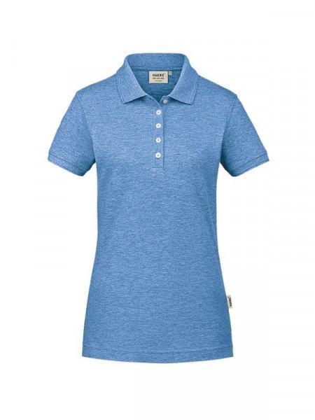 Hakro Damen-Poloshirt GOTS-Organic pastellblau meliert 0231-324