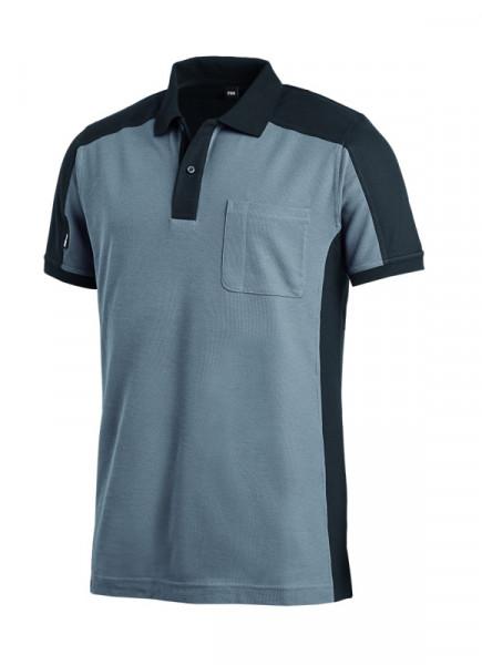FHB KONRAD Polo-Shirt, grau-schwarz