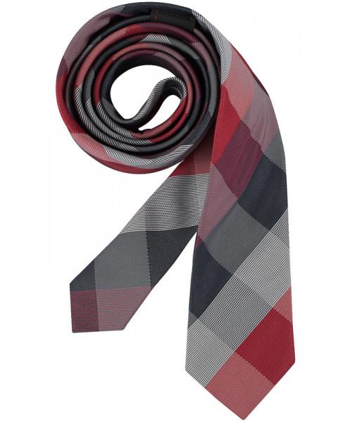 GREIFF Krawatte Slimline rot/grau kariert Accessoires 6918.9700.551 6918 9700 Krawatte