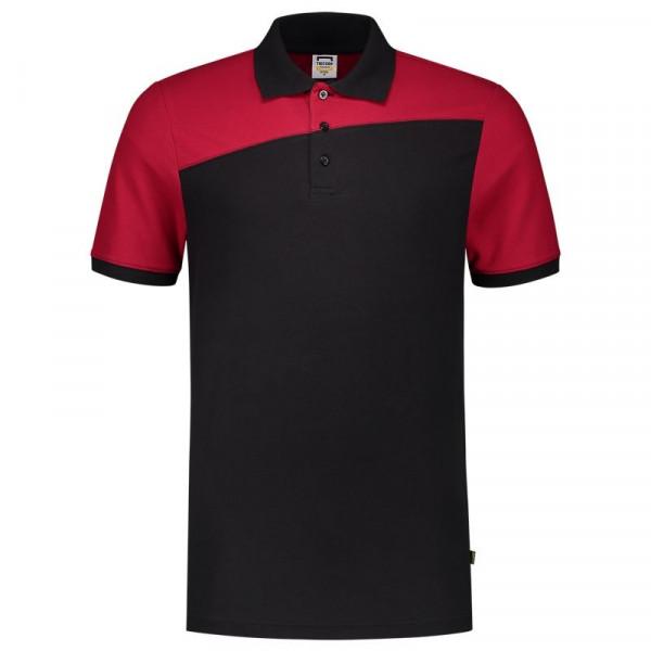 TRICORP, Poloshirt Bicolor mit Quernaht, Blackred, 202006