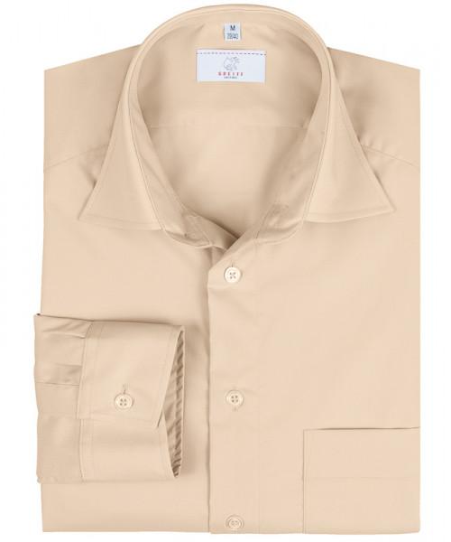 GREIFF, Herren-Hemd 1/1 Regular F/beige Art.Nr.666