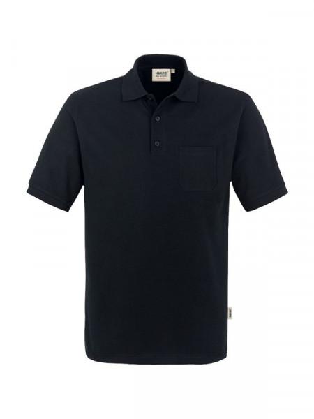 Hakro Pocket-Poloshirt Performance schwarz 0812-005
