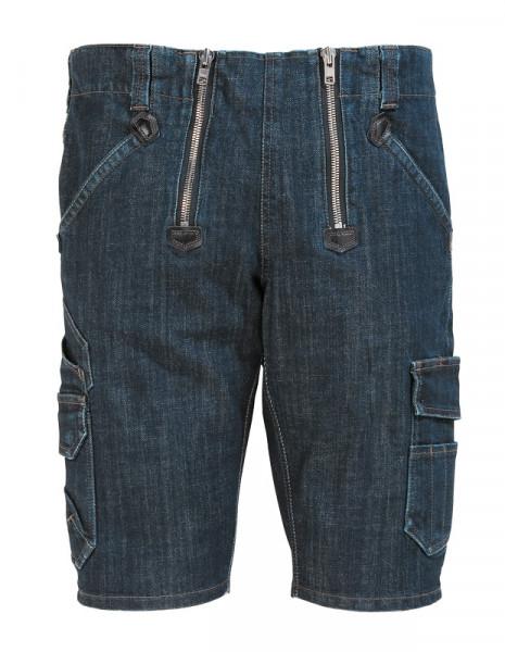 FHB VOLKMAR Stretch-Jeans-Zunft-Bermuda, schw. bla