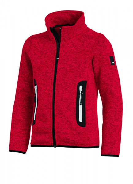 FHB MATS Strick-Fleece-Jacke Kinder , rot