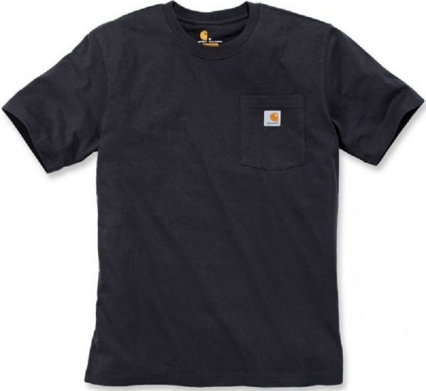 CARHARTT, WORKW POCKET S/S T-SHIRT, BLACK, 103296