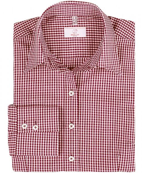 GREIFF, Damen-Bluse 1/1 Regular F/vichy karo borde