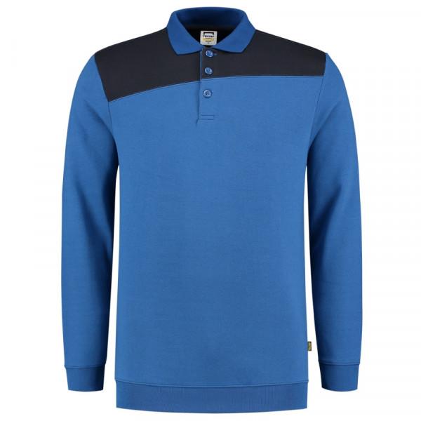 TRICORP, Sweatshirt Polokragen Bicolor Quernaht, Royalnavy, 302004
