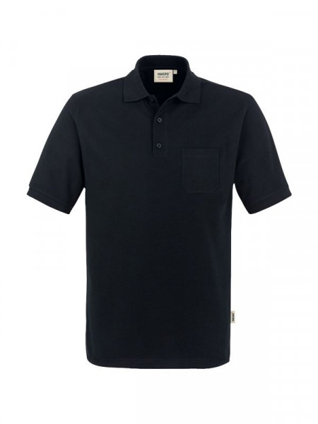 Hakro Pocket-Poloshirt Performance schwarz 0812-005