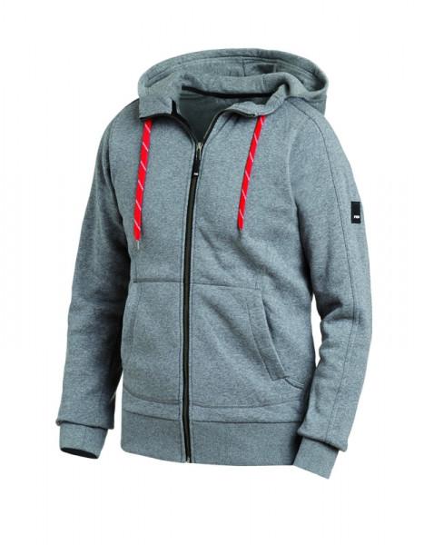 FHB BENNO Sweater-Jacke mit Kapuze, grau