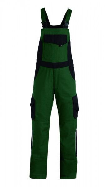 FHB ECKHARD Latzhose, grün-schwarz