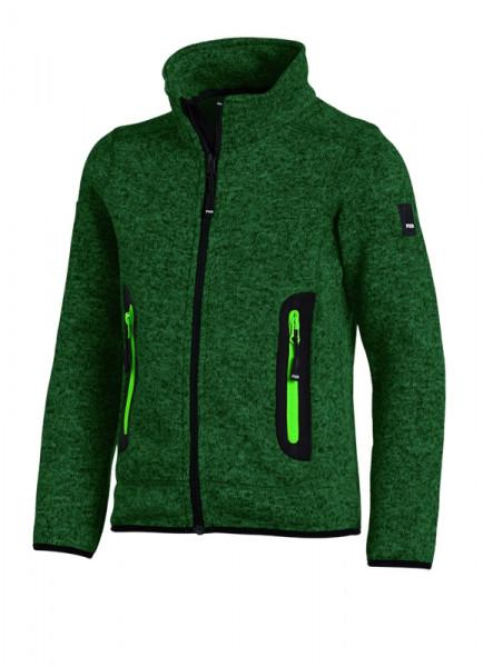 FHB MATS Strick-Fleece-Jacke Kinder , grün