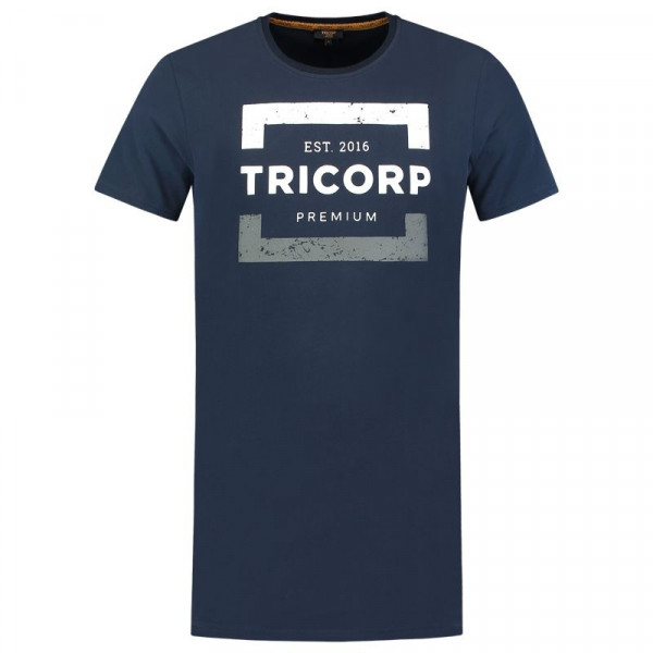 TRICORP, T-Shirt Premium Herren Lang, Ink, 104001