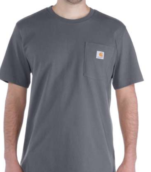 CARHARTT, WORKW POCKET S/S T-SHIRT, CHARCOAL, 103296