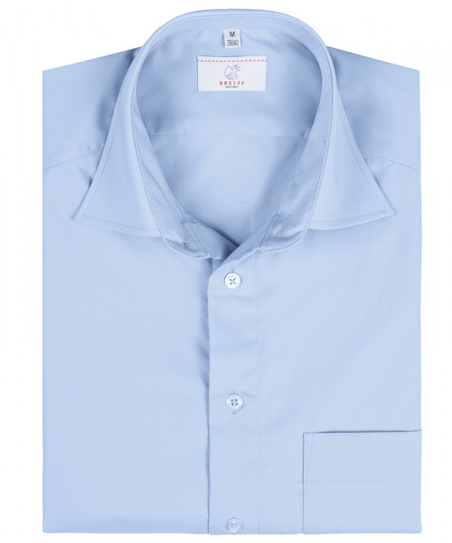 GREIFF, Herren-Hemd 1/2 Regular F/bleu Art.Nr.6666