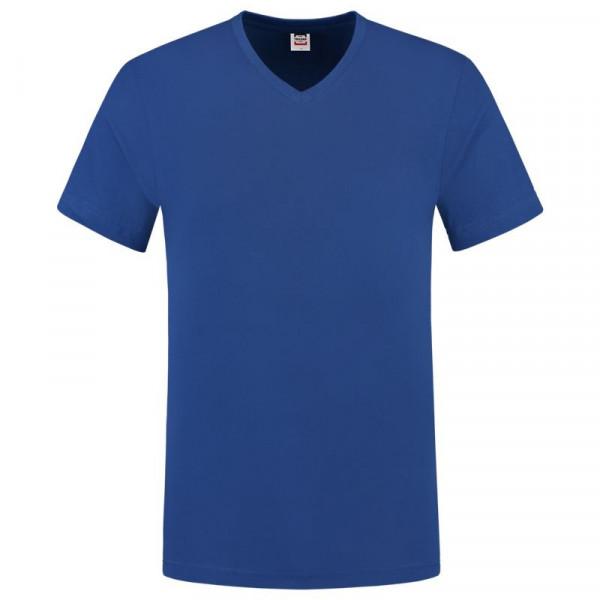 TRICORP, T-Shirt V-Ausschnitt Slim Fit, Royalblue, 101005