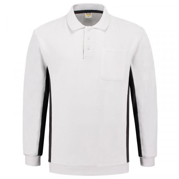 TRICORP, Sweatshirt Polokragen Bicolor Brusttasch, WhiteDGrey, 302001