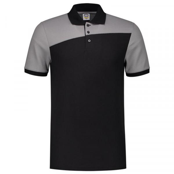 TRICORP, Poloshirt Bicolor mit Quernaht, BlackGrey, 202006