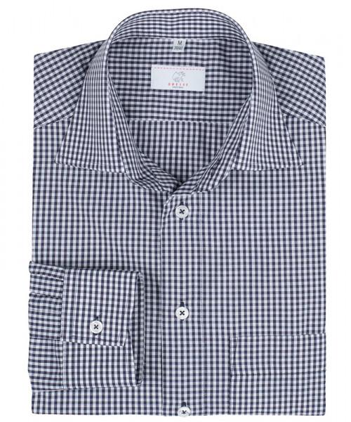 GREIFF, Herren-Hemd 1/1 Regular F/vichy karo blau
