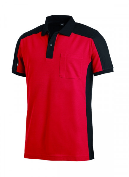 FHB KONRAD Polo-Shirt, rot-schwarz