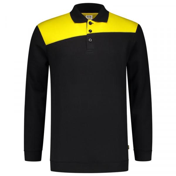 TRICORP, Sweatshirt Polokragen Bicolor Quernaht, BlackYello, 302004