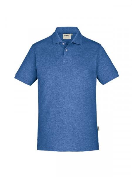 Hakro Poloshirt GOTS-Organic ultramarinblau meliert 0831-325
