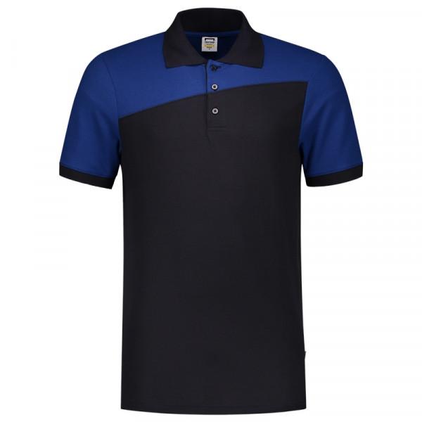 TRICORP, Poloshirt Bicolor mit Quernaht, Navyroyal, 202006
