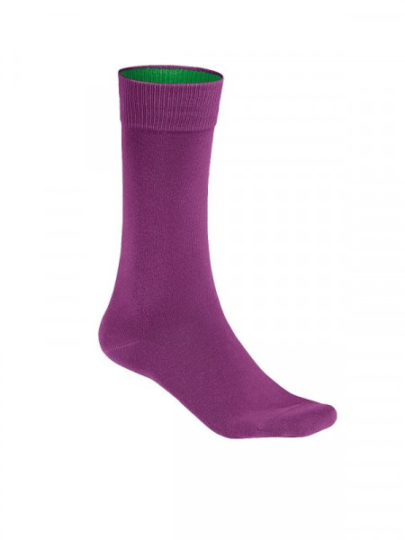 Hakro Socken Premium aubergine 0933-118