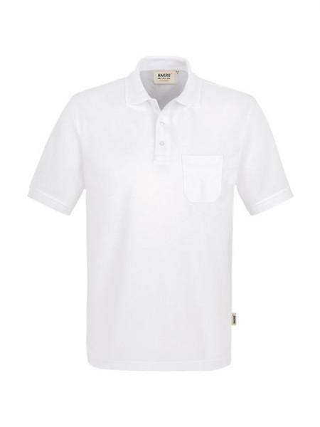 Hakro Pocket-Poloshirt Performance weiß 0812-001
