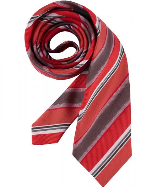 GREIFF Krawatte rot/grau gestreift Accessoires 6900.9700.750 6900 9700 Krawatte