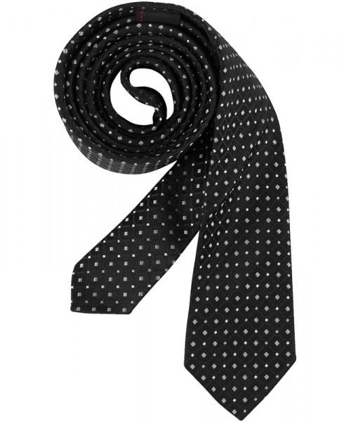 GREIFF Krawatte Slimline schwarz/silbergrau Accessoires 6918.9700.910 6918 9700 Krawatte