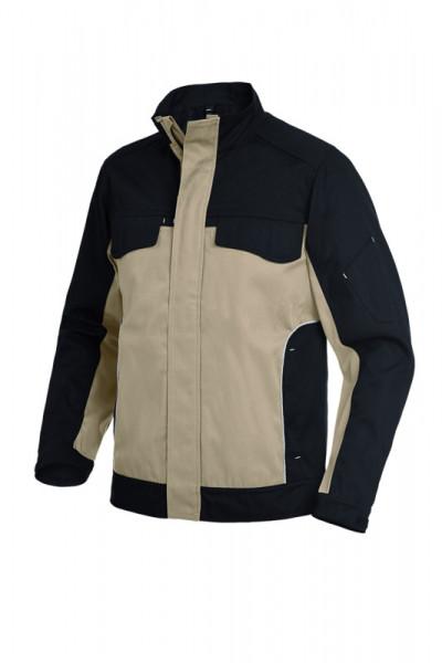 FHB ERNST Arbeitsjacke, beige-schwarz