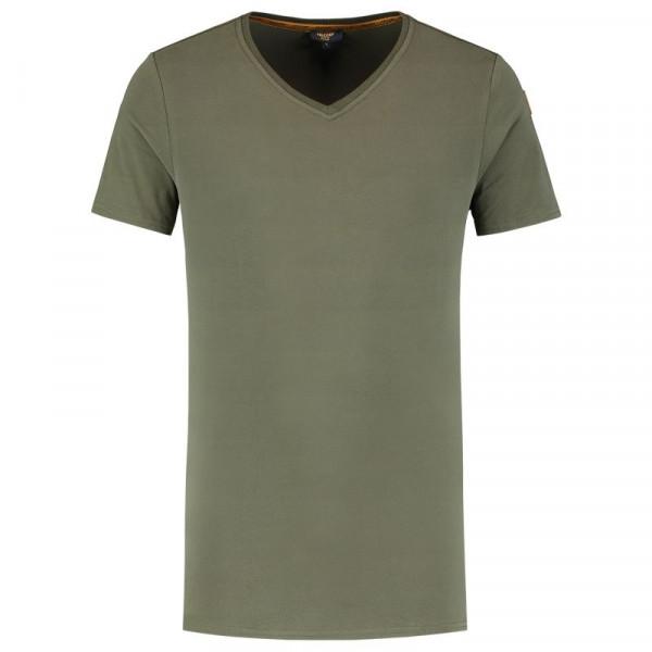 TRICORP, T-Shirt Premium V-Ausschnitt Herren, Army, 104003