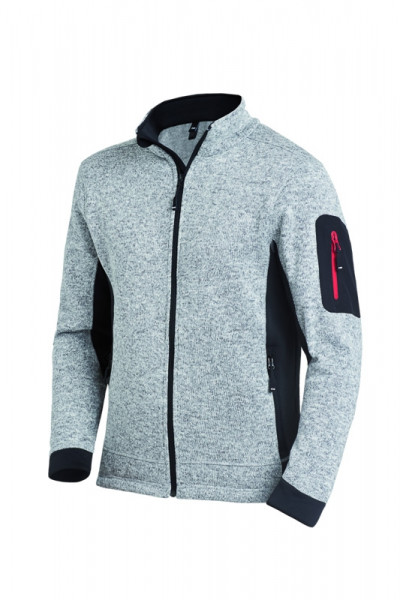 FHB CHRISTOPH Strick-Fleece-Jacke, grau
