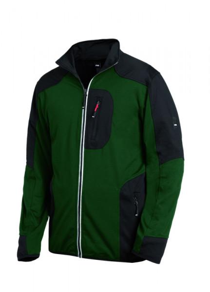 FHB RALF Jersey-Fleece-Jacke, grün-schwarz