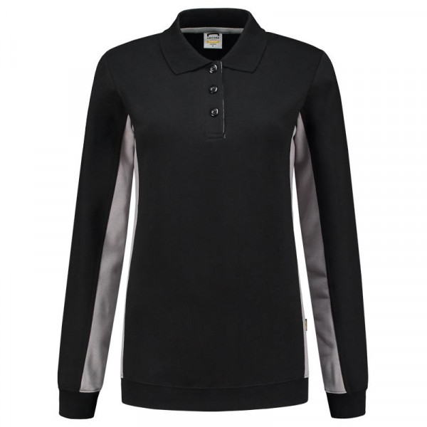 TRICORP, Sweatshirt Polokragen Bicolor Damen, BlackGrey, 302002