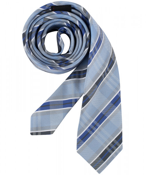 GREIFF, Krawatte Slimline/bleu kariert Art.Nr.6918