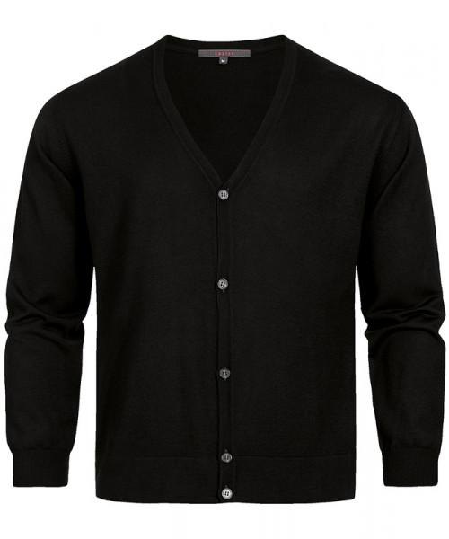 GREIFF Herren Strickjacke schwarz Blusen/Hemden/Strick 6043.5050.10 6043 5050 Pullover