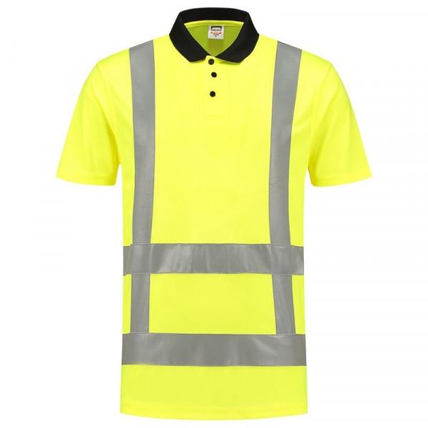 TRICORP, Poloshirt EN ISO 20471 Birdseye, Yellow, 203006