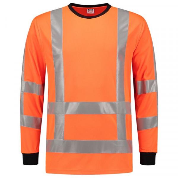 TRICORP, T-Shirt EN ISO 20471 Birdseye Langarm, Orange, 103002