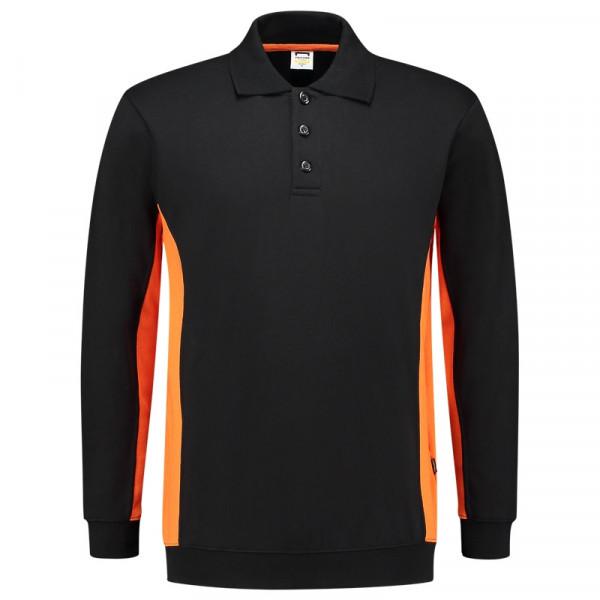 TRICORP, Sweatshirt Polokragen Bicolor, Blackoran, 302003