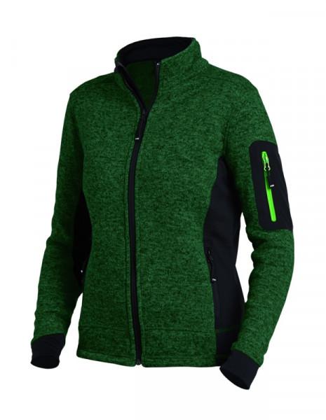FHB MARIEKE Strick-Fleece-Jacke Damen, grün