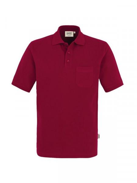 Hakro Pocket-Poloshirt Top weinrot 0802-017
