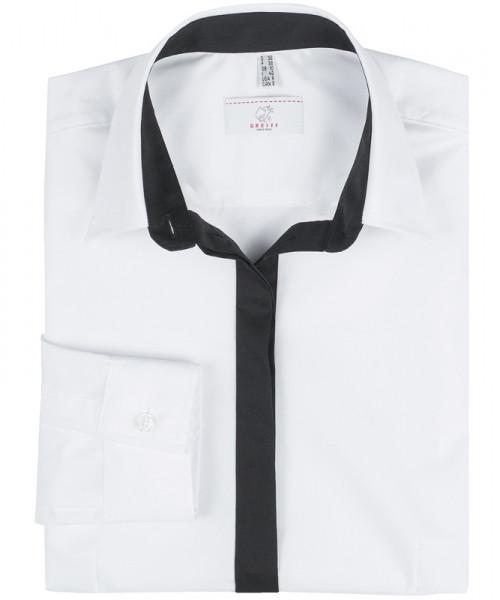 GREIFF, Damen-Bluse 1/1 Regular F/weiss/Besatz sch