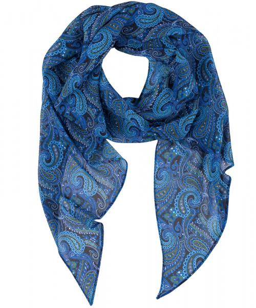 GREIFF, Schal bedruckt/dunkelblau Paisley Art.Nr.6