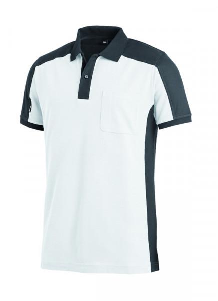 FHB KONRAD Polo-Shirt, weiß-anthrazit
