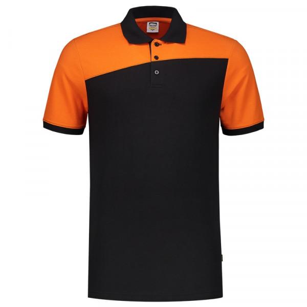 TRICORP, Poloshirt Bicolor mit Quernaht, Blackoran, 202006