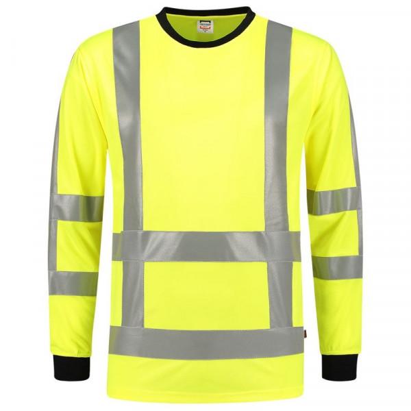 TRICORP, T-Shirt EN ISO 20471 Birdseye Langarm, Yellow, 103002