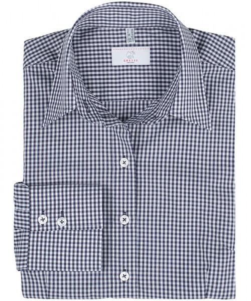 GREIFF, Damen-Bluse 1/1 Regular F/vichy karo blau