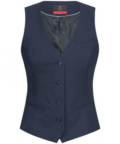 GREIFF Damen-Weste Regular Fit blau Mikrodessin Corporate Wear 1703.666.121 1703 666 Weste