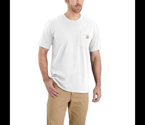 CARHARTT, WORKW POCKET S/S T-SHIRT, WHITE, 103296